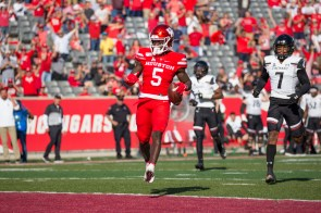 Junior wide receiver Marquez Stevenson caught three passes for 120 yards in loss to Cincinnati on Oct. 12 . | File Photo