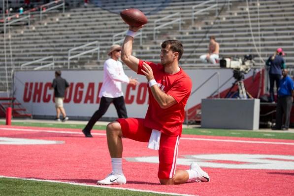 Sophomore quarterback Clayton Tune made his fourth career start following senior quarterback D'Eriq King's decision to redshirt for the 2019 season. | Trevor Nolley/The Cougar