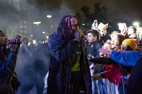 Waka Flocka Flame performs at the 2019 homecoming concert. | Trevor Nolley, The Cougar