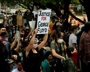 Saturday marked the second day police brutality protesters gathered in downtown Houston. | Mikol Kindle Jr./The Cougar