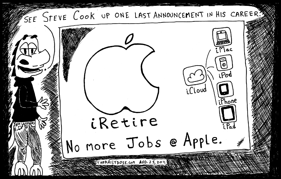 Steve Jobs Apple iResign