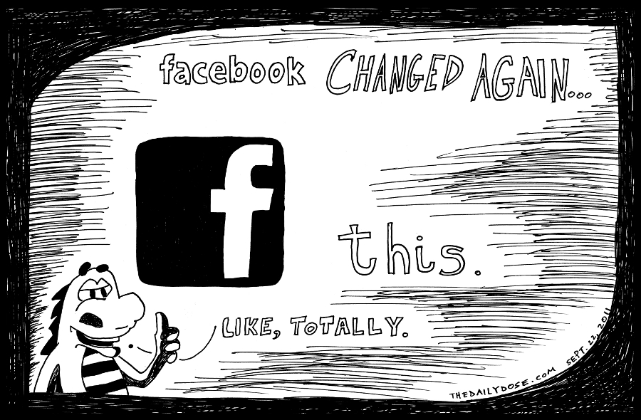 facebook editorial cartoon laughzilla comic strip caricature for the daily dose