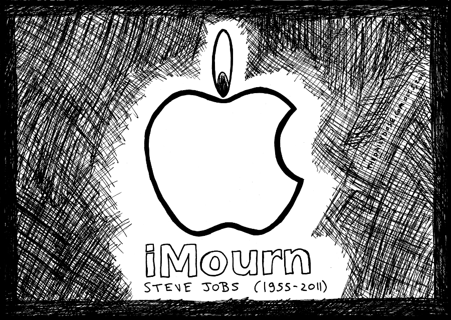 steve jobs editorial cartoon apple comic strip caricature by laughzilla for the daily dose