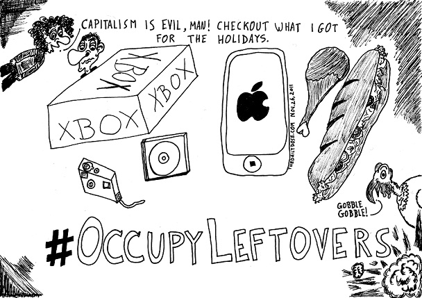 #occupyleftovers comic strip panel by laughzilla for the daily dose