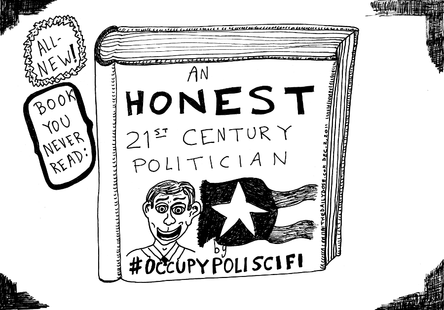 occupy poliscifi  editorial cartoon by laughzilla for thedailydose.com