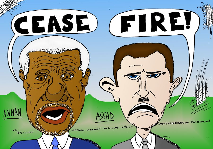 Annan Assad Cease Fire In Syria