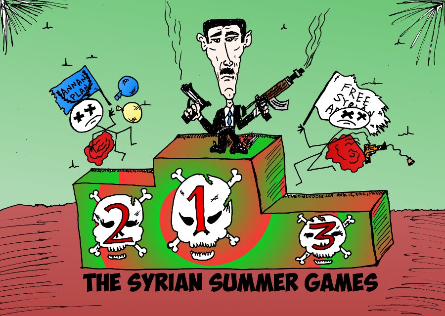 Syrian Summer Games Top Finishers Podium