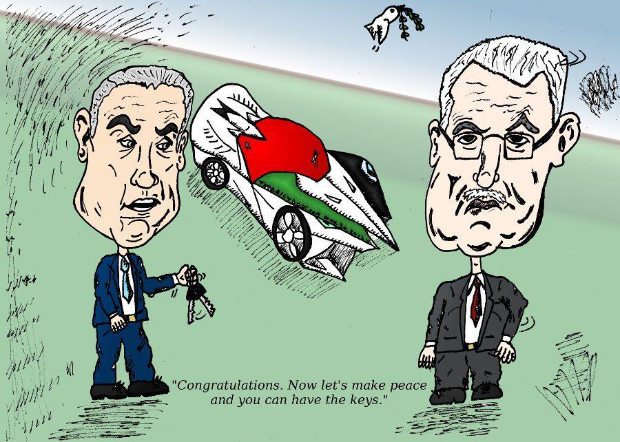 Bibi Offers Keys To Palestinian State Car To Abbas