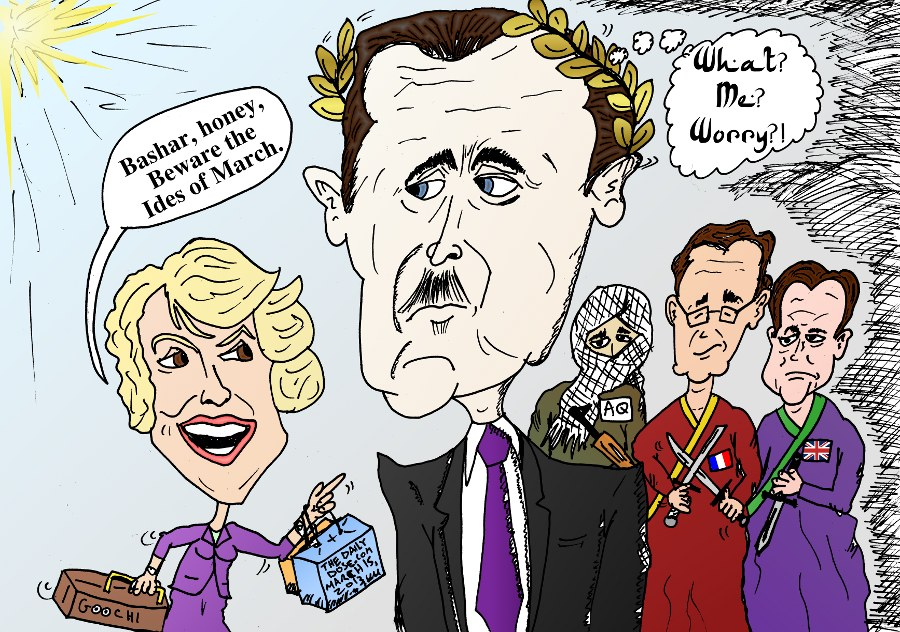 Bashar Assad Caricature Beware The Ides Of March