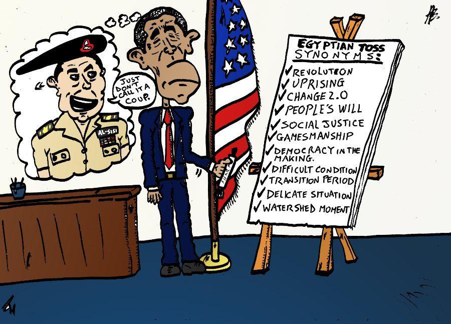 Egypt Military Coup Synonyms Political Cartoon