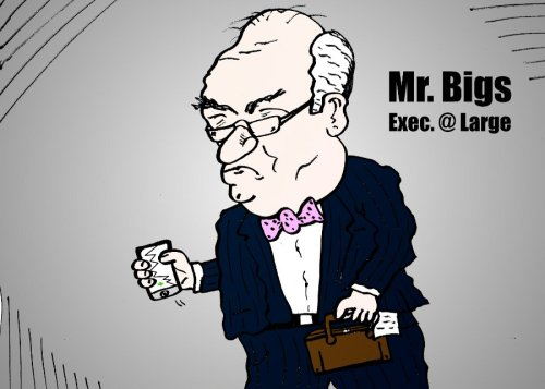 business comic strip feat. mr bigs exec at large by laughzilla for the daily dose february 4, 2014