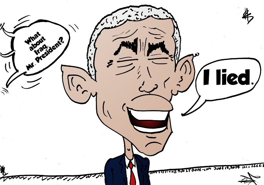 The President Obama caricature that clears up America's Iraq policy