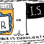Islamic State versus Meds editorial cartoon