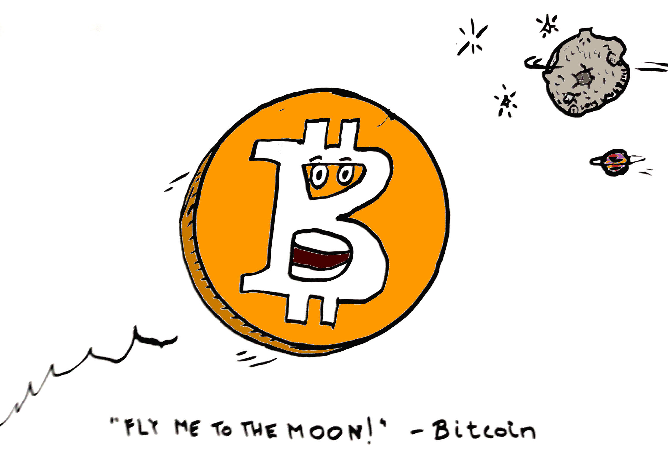 "Bitcoin sings ""Fly Me To The Moon"""