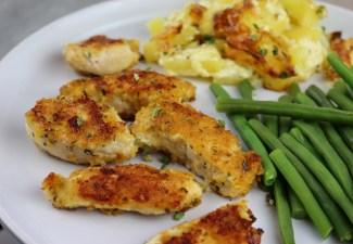 Crunchy Garlic Chicken & Potato Bake