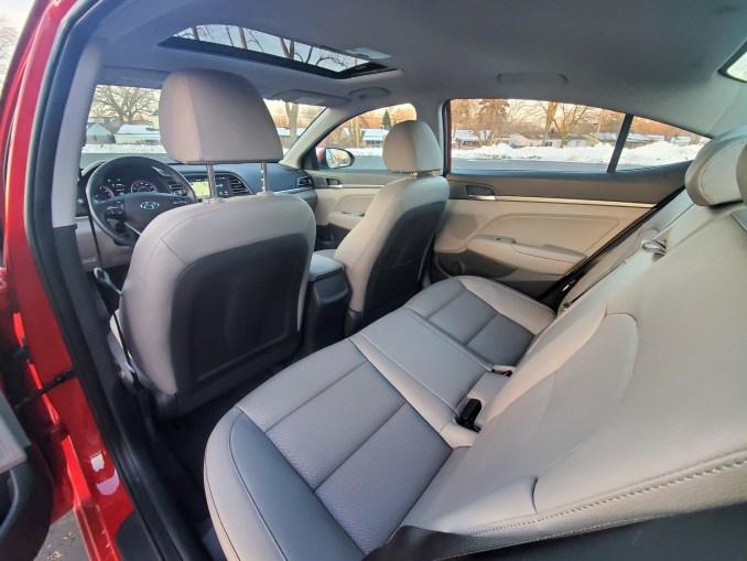 2020 Hyundai Elantra Rear Seats