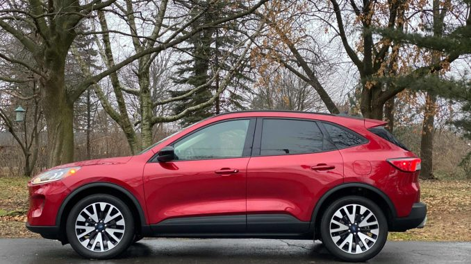 2020 Ford Escape Red Driver Side