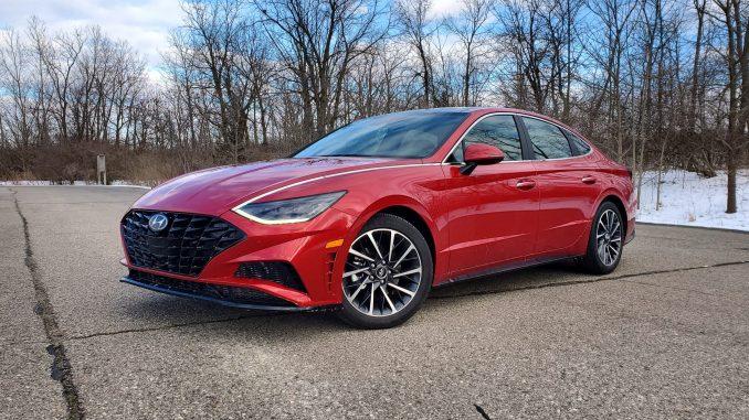 2020 Hyundai Sonata Red Front