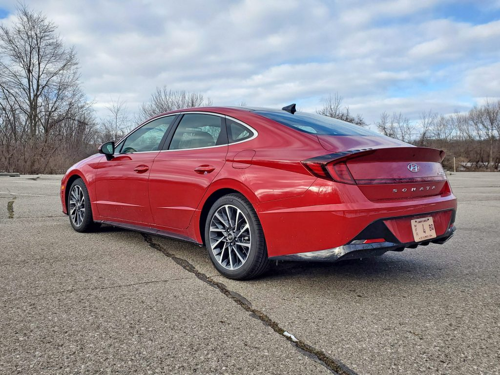 2020 Hyundai Sonata Red Rear Right