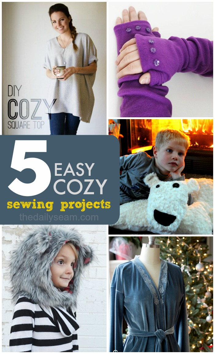 Cozy And Simple Living Room: 5 Easy Cozy Sewing Projects