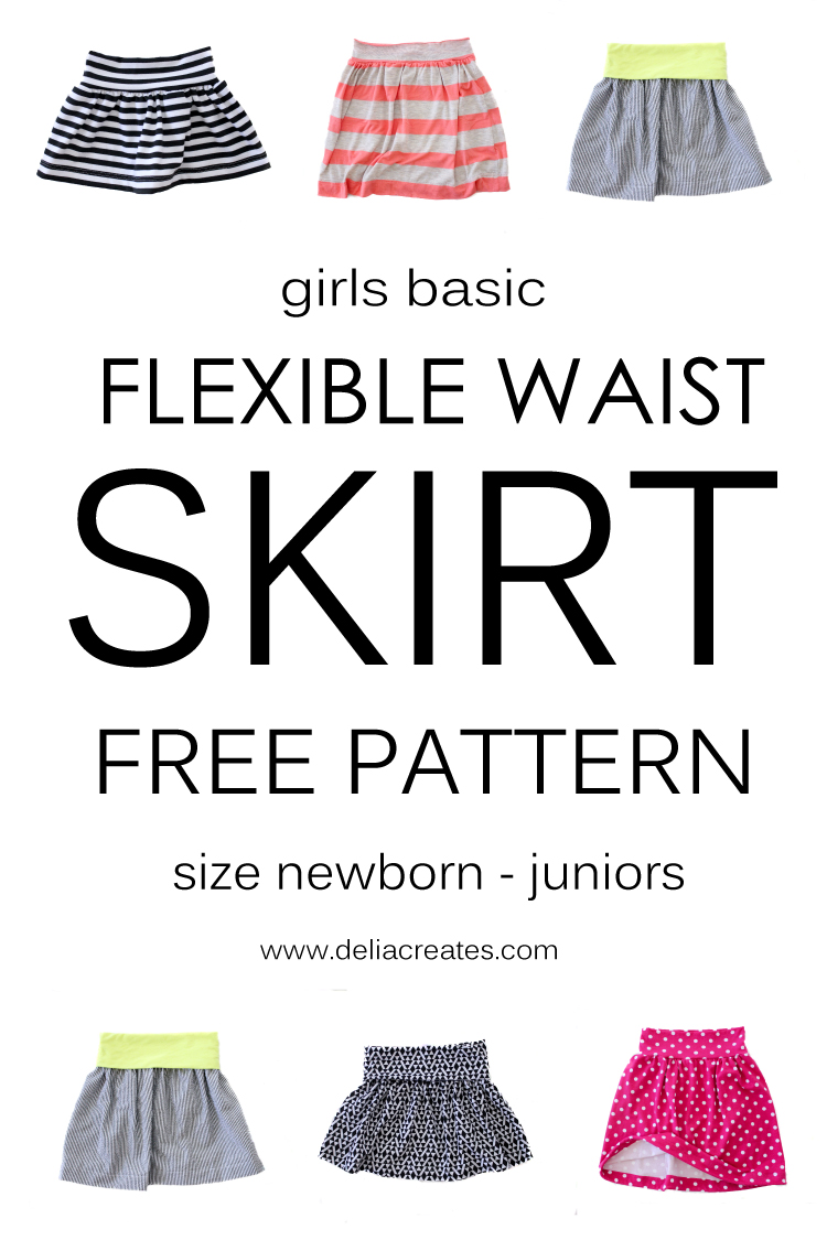 FREE flexible waist skirt pattern