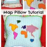World Map Pillow Tutorial