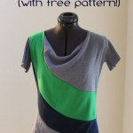 Color Blocked Tee Tutorial and Free Pattern