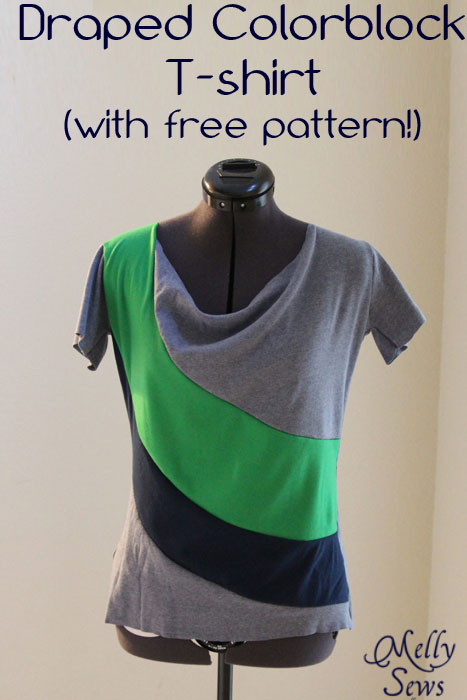 Free pattern for darling color blocked shirt