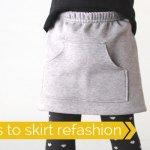 Turn Sweat Pants into a Cute Skirt