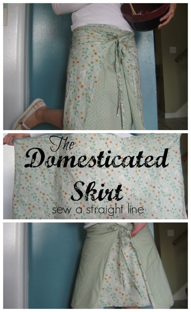 domesticated skirt sew a straight line