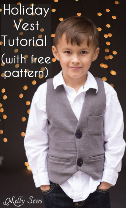 Sew a vest pattern - FREE pattern to make a holiday vest from Melly Sews | The Daily Seam