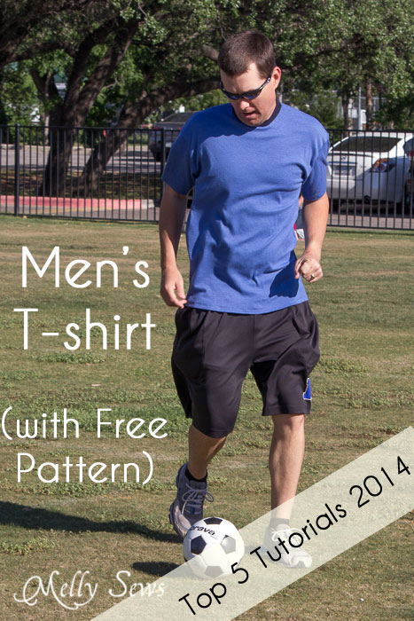 Sew a men's t-shirt with this free pattern and tutorial from Melly Sews | The Daily Seam