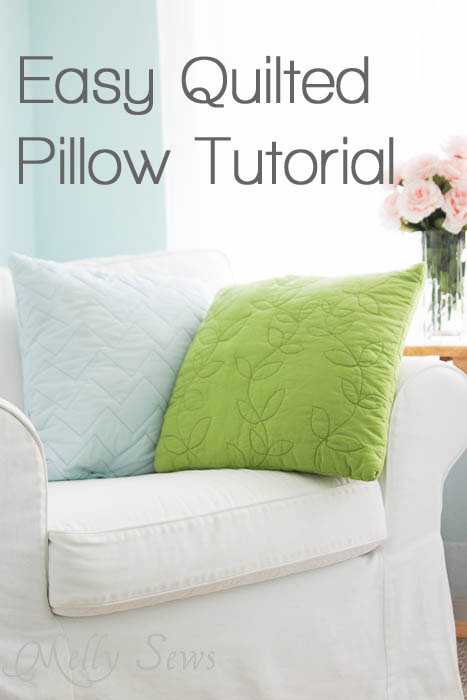 Make these easy quilted pillows - no piecing! - with Melly Sews | The Daily Seam