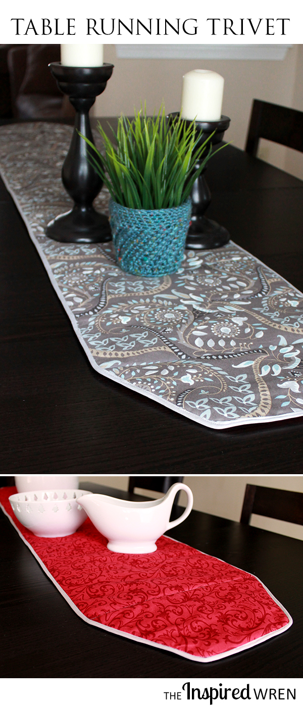 Table Running Trivet -- Sewing Tutorial from The Inspired Wren