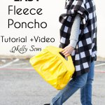 Sew A Poncho from Fleece