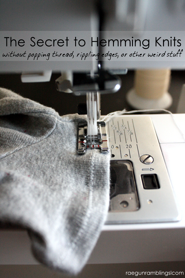 This trick for hemming knits is genius. So easy and makes sewing with knits a breeze.