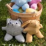 Sew Easter Bunnies from T-Shirts
