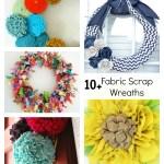 Fabric Wreath Tutorials