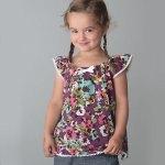 Free flutter sleeve top or dress pattern