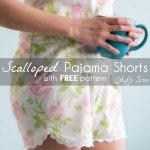 Scalloped Pajama Shorts from a Vintage Sheet
