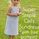 Super Easy Girl's Sundress!