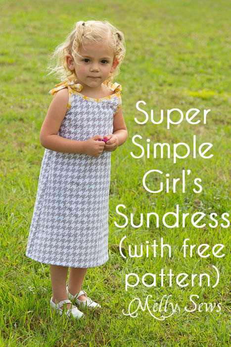 Super Simple and Free Girls Dress pattern by mellysews.com