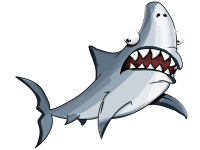 Shark Costume For Dogs: Small & Large Sizes, & Fins