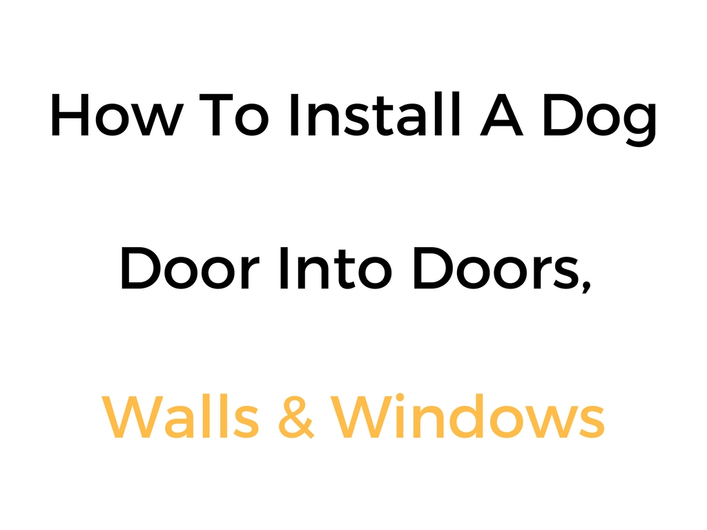 How To Install A Dog Door Into Doors, Walls & Windows