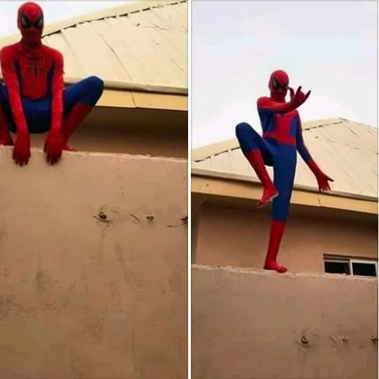 As e dey hot: Spiderman don show for Naija 3