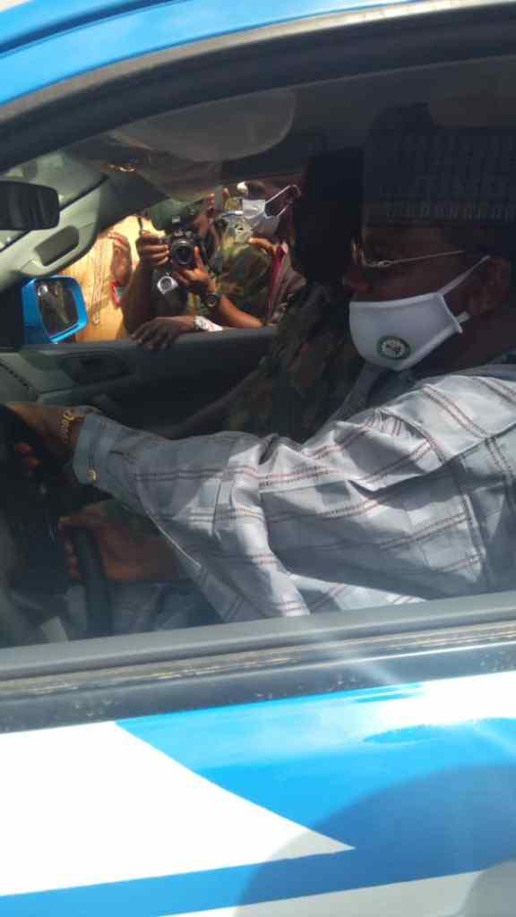 FRSC Boss, Oyeyemi commends Gov. Bello for donating 2 Ford Rangers to Zamfara Sector Command 1