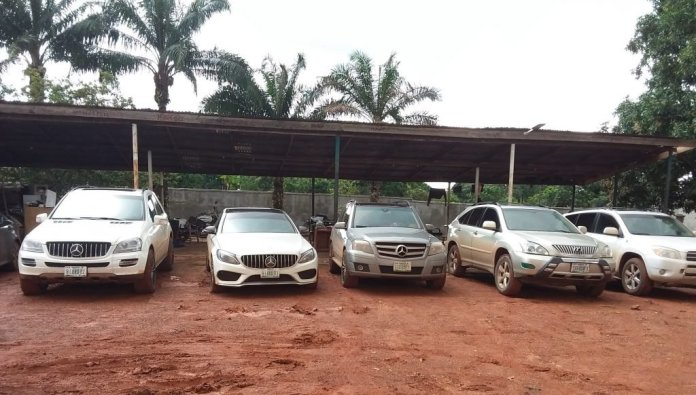 EFCC Arrests 14 Alleged Fraudsters In Anambra, Seize Exotic Cars [Photos] 1
