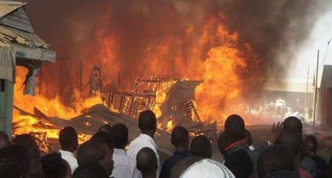Fire razes 70 shops in Lagos market 3