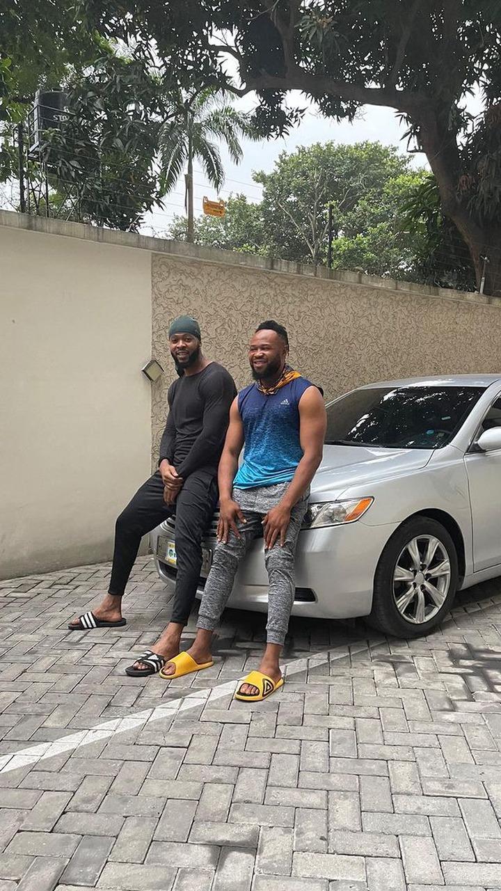 Popular Singer, Flavour surprises his Childhood friend with a car (Photos) 4