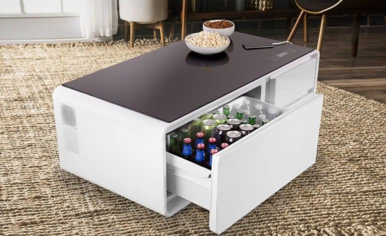 Sobro: The Smart Coffee Table With A Built-In Fridge And